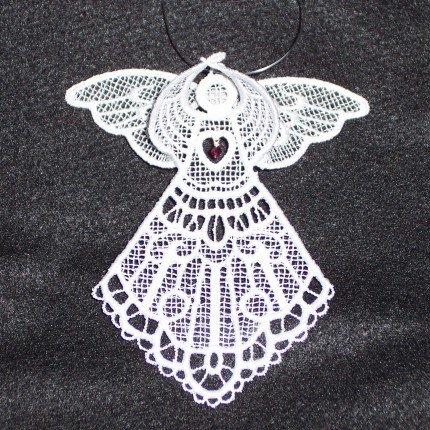 Swarovski Crystal Birthstone 3D Lace Angels