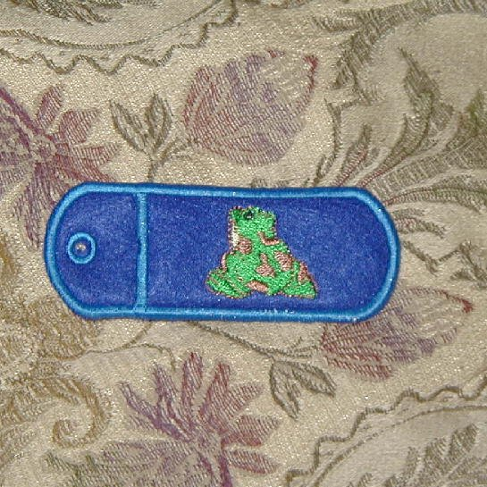 Embroidered Froggy Lip Balm or Lighter Holder Key Chain