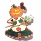 Embroidered Pumpkinhead scarecrow dummy holder
