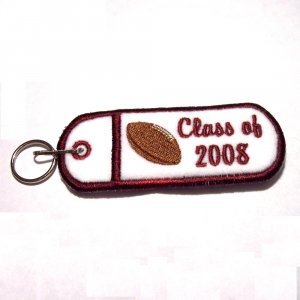 CLASS OF Embroidered lipbalm, usb, lighter Holder Keychain