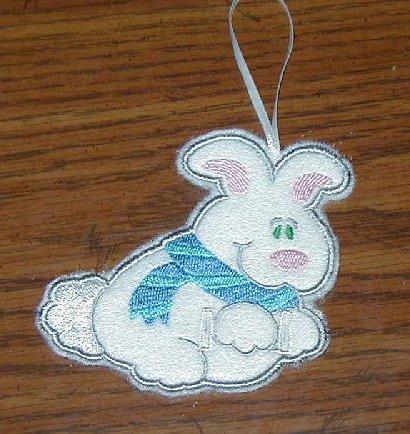 White Rabbit Candy Cane Huggers