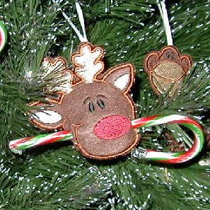 Reindeer Candy Cane Hugger