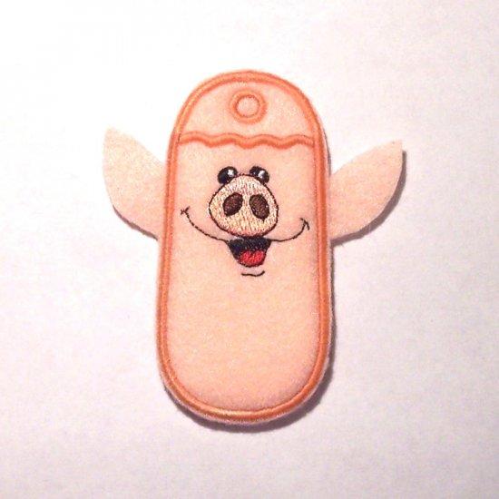 Pig Lipbalm, USB or Lighter holder keychain or zipper pull