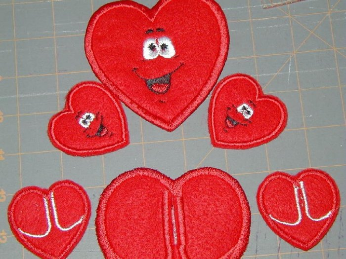 Set of 3 Naughty Pooping Hearts