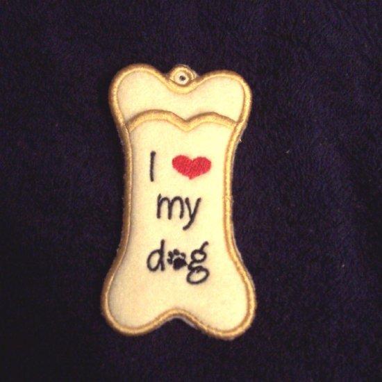 Dog bone lip balm, chapstick or USB holder keychain
