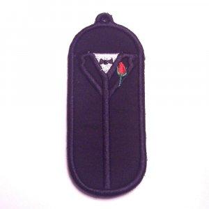 Groom or Tuxedo USB, lip balm, or lighter holder keychain