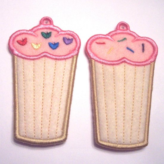 Embroidered Cupcake USB, Lip Balm, Chapstick or lighter holder key chain