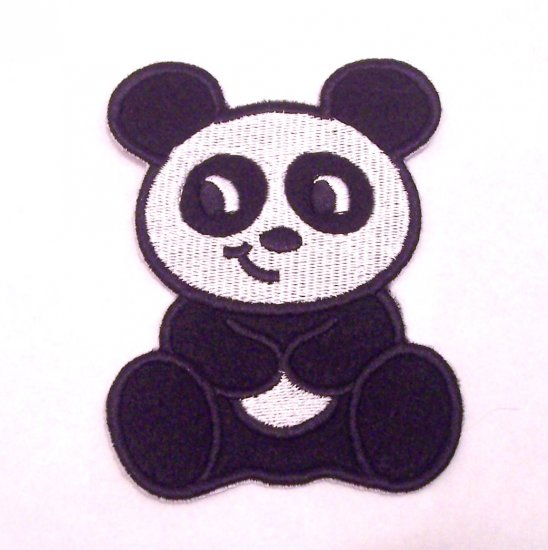 Embroidered Panda Patch