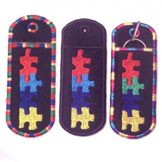 Autism Awareness Lip Balm/Chapstick/USB Holder Keychain