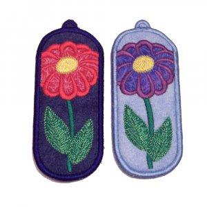 flower lip balm/usb drive holder keychain