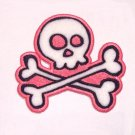 Skull & Crossbones Embroidered Iron on Patch