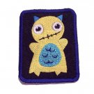 Mellow Monster Embroidered Denim Iron on Patch