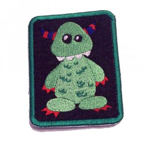 Archie Monster Embroidered Denim Iron on Patch