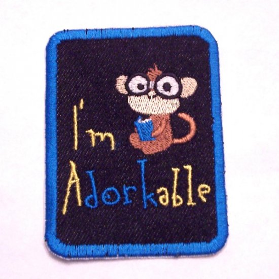 I'm aDORKable Embroidered Denim Iron on Patch