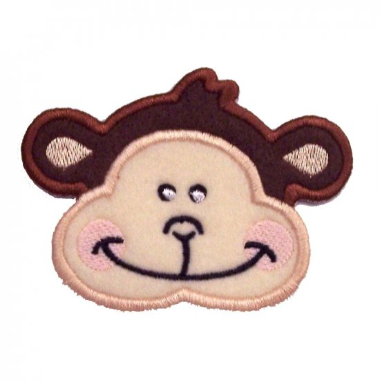 EMBROIDERED MONKEY FACE PATCH