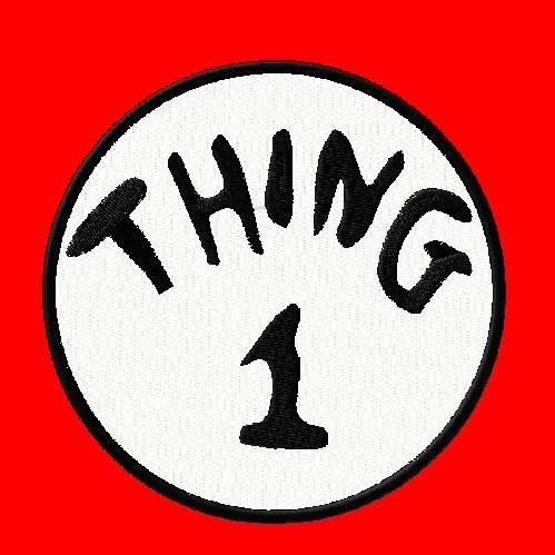 """Thing Embroidered Iron on 4"""" Patches"""