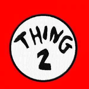 """Thing Embroidered Iron on 5"""" Patches"""