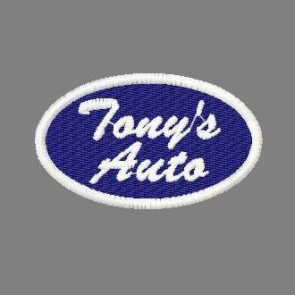 Tony's Auto Oval Name Patches