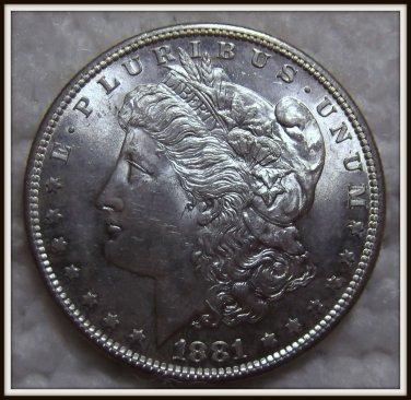 1881-S $1 Morgan Silver Dollar (BU)