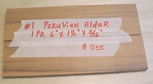 Peruvian alder handle material  #118