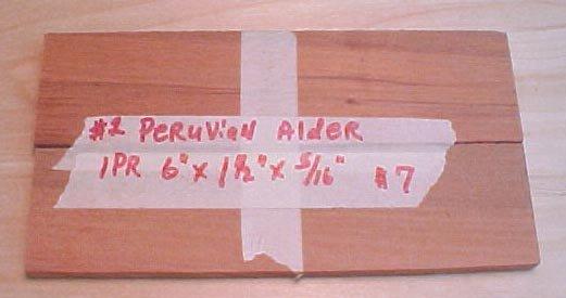 Peruvian alder handle material  #120
