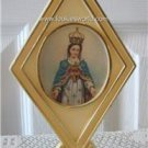 Vintage Plastic Notre Dame of Fatima Display Catholic