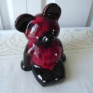 Vintage Red/Brown Pottery Teddy Bear Bank Evangeline?