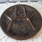 Vintage Brown  Fondue/Sushi Plate Beauceware  #2343
