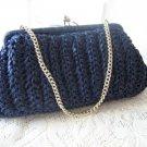 Vintage Navy Straw Evening Clutch Purse Handbags Ltd