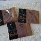 Vintage 3 Pairs Tan Nylon Stockings Seamless 9 ½ Reslon