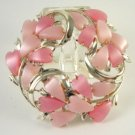 Vintage Thermoset  Moonglow Lucite Pinks Brooche CORO