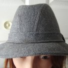 "Vintage Grey Tweed  Men Hat 7 22"" Med USA"