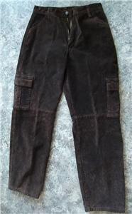Vintage Brown Suede Pants Fully Lined Waist 32