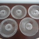 Vintage Clear Glass 5 Plates