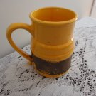 Vintage Yellow & Black Lava Laurentian Art Pottery Beer Mug