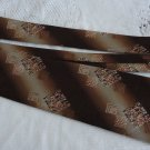 Vintage Brown Geometric Design Polyester NeckTie Mr Dutel