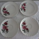 Vintage China Lot 2 Bread Plates/2 Saucers Rosegay Ridgway Staffordshire