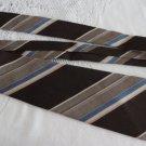 Vintage Striped Brown & Blue Polyester Wide Necktie Louis Feraud Paris