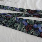 Vintage Black & Design Blue Silk Necktie Mano Mano
