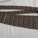 Vintage Black,Blue & Gold Design Silk Necktie Orvieto Made in Canada