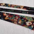 Vintage Black Polyester Necktie Flintstones Cartoon Network