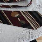 Polifroni Italian Silk Vintage Burgundy Necktie
