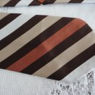 Vintage Brown/Rust Striped Polyester Wide Necktie Remon D'Urville