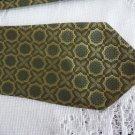Vintage Green Design Polyester Necktie Wemlon Gentry Wembley