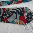 Vintage Blue/Red/Black Abstract Design Silk Necktie Hyde Park