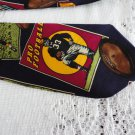 Vintage Football Scenes Navy Silk Necktie Addiction Korea