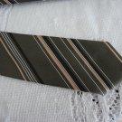 Vintage Brown/Salmon Striped Polyester Blend Necktie Creation Roger Guyot
