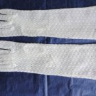 Vintage White Lace Nylon Mid-Arm Gloves Size 6-6½ Lenght 12¼  Inches .