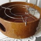 Vintage Medium Brown Pottery Big Warmer Base W.Germany