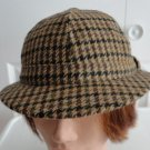 Vintage Black/Brown Harrisson 100% Wool Men Hat Fedora 7, 57 cm, M, Scotland